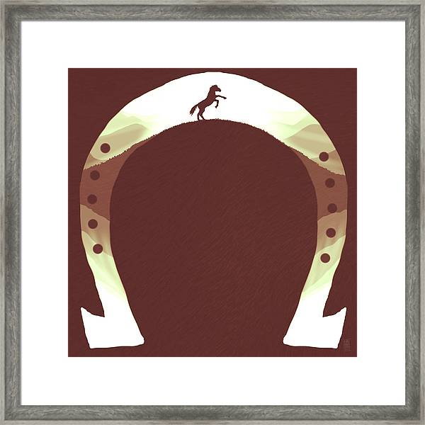 Horse Shoe Framed Print by Daniel Hapi