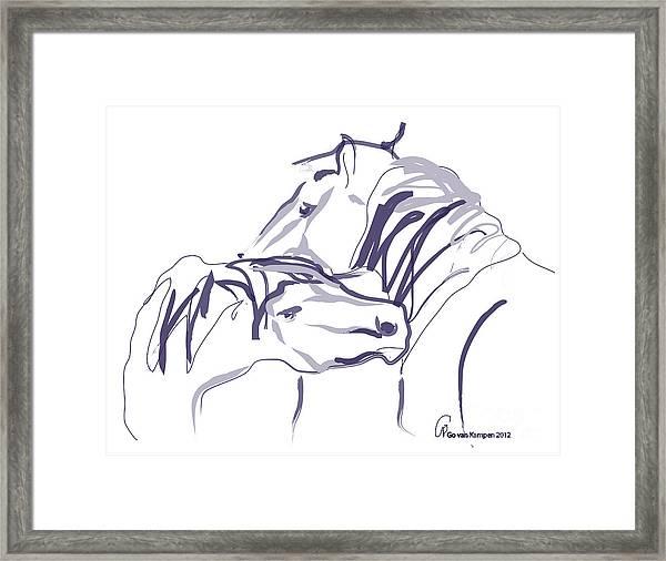 Horse - Together 10 Framed Print