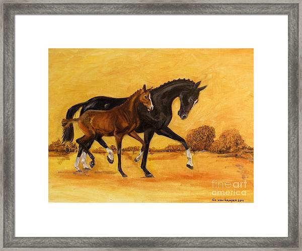 Horse - Together 2 Framed Print