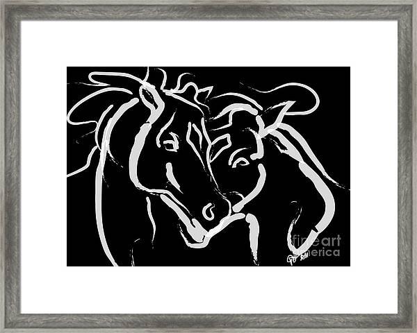 Horse- Together 5 Framed Print
