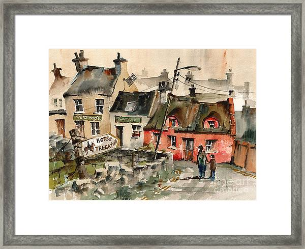 Horse Treeking In Doolin  Clare Framed Print