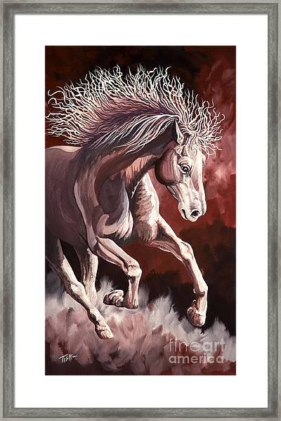 Horse Wild Fire Framed Print