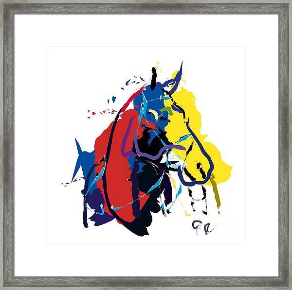 Horse- Zam Framed Print