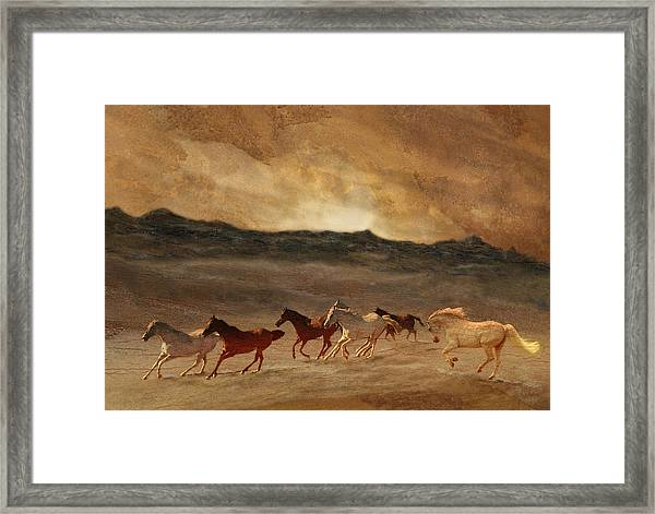 Horses Of Stone Framed Print
