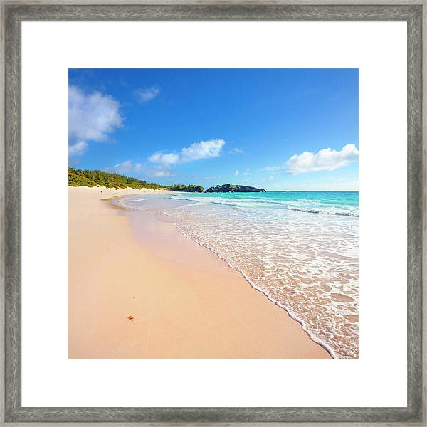 Horseshoe Bay Beach, Caribbean Sea Framed Print by Slow Images