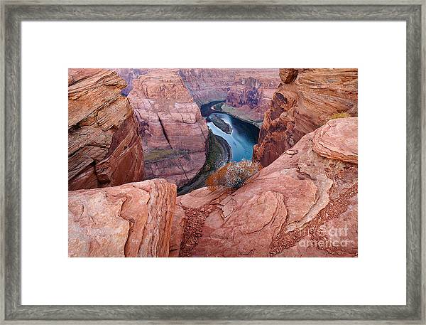 Framed Print featuring the photograph Horseshoe Bend At Dawn by Mae Wertz