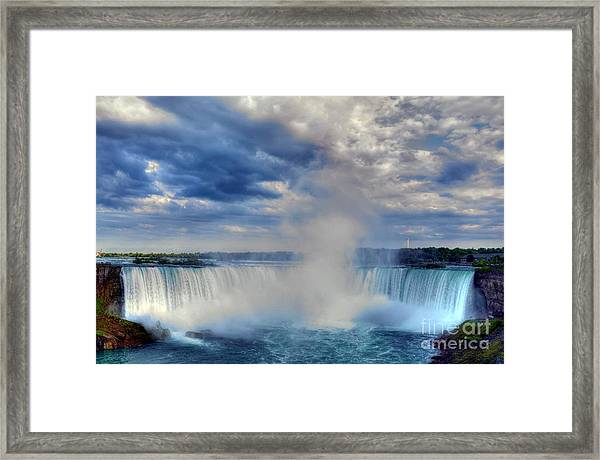 Framed Print featuring the photograph Horseshoe Falls by Mel Steinhauer