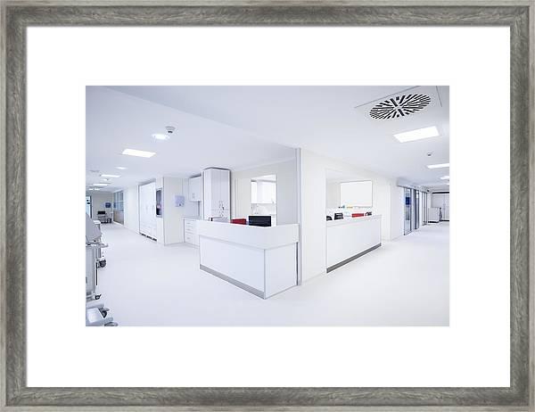 Hospital Corridor Framed Print by JazzIRT