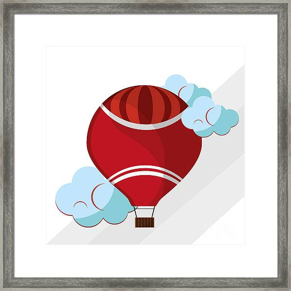 Hot Air Balloon Graphic , Vector Framed Print by Jemastock