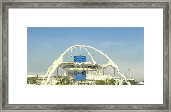 Hot Day At Lax Framed Print