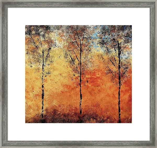 Hot Hillside Framed Print