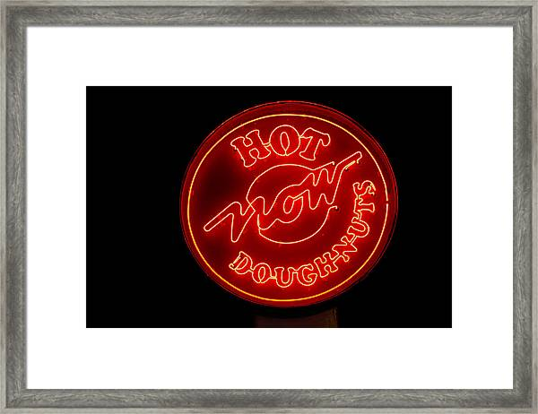 Hot Now Krispy Kreme Framed Print