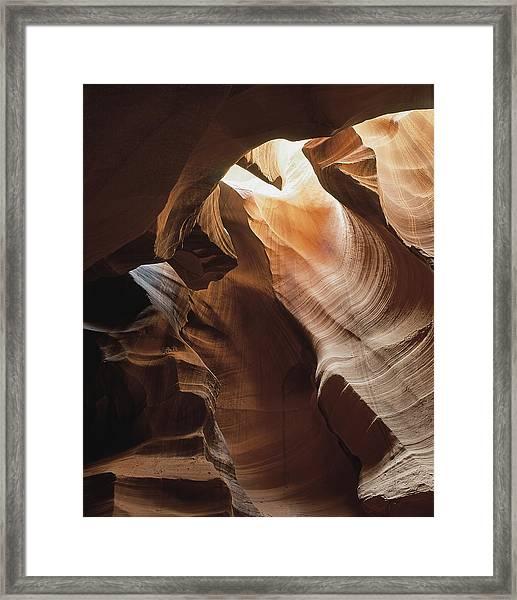 Slot Canyon  Vertical Framed Print