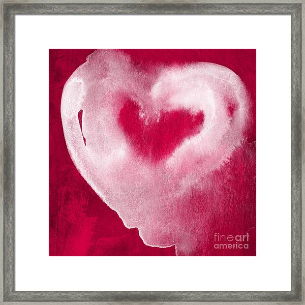 Hot Pink Heart Framed Print