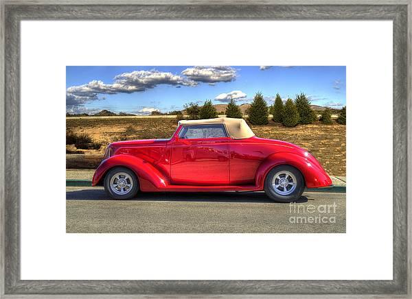 Hot Red Car Framed Print
