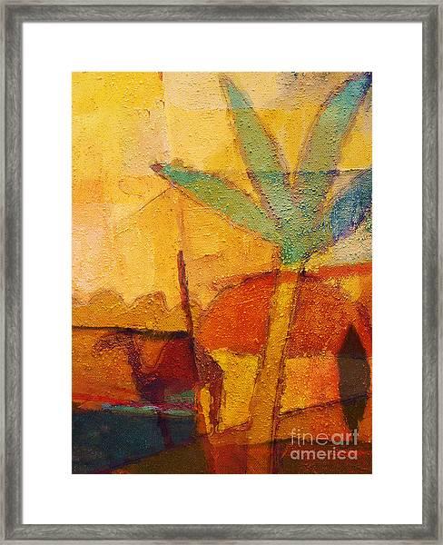 Hot Sun Framed Print