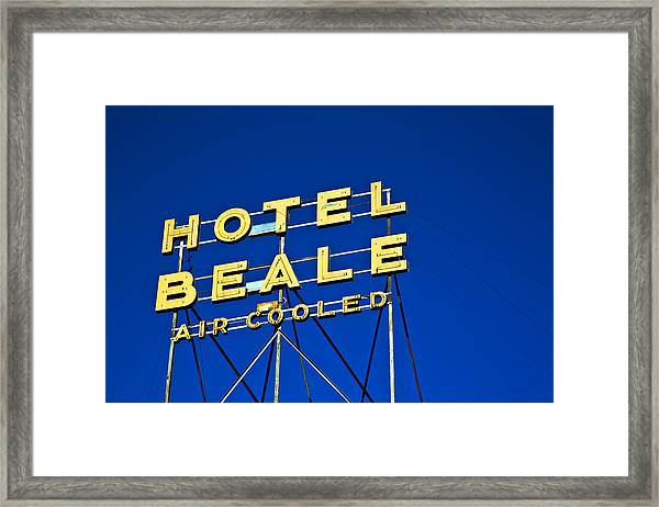 Framed Print featuring the photograph Hotel Beale by Gigi Ebert