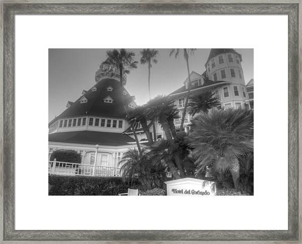Hotel Del At Sunset Framed Print