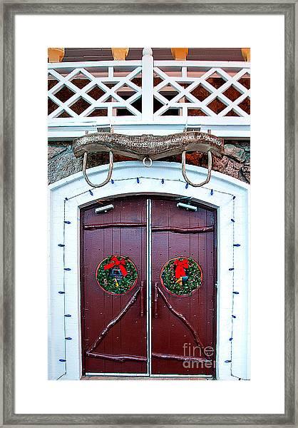 Hotel Door Framed Print by Mae Wertz