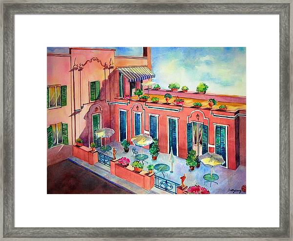Hotel In Rome Framed Print
