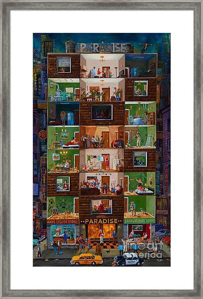 Hotel Paradise Framed Print