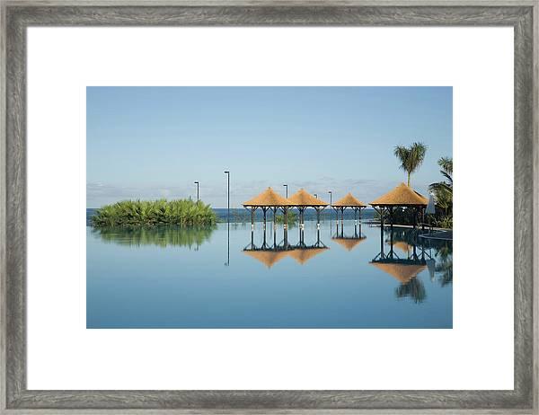 Hotel Pool, Tenerife, Canary Islands Framed Print