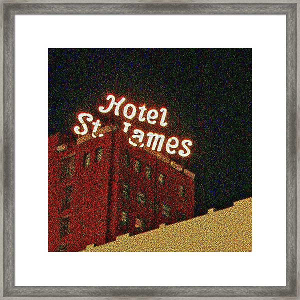 Hotel - St James San Diego Framed Print