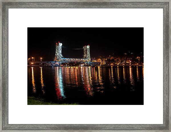 Houghton Lift Bridge  Framed Print