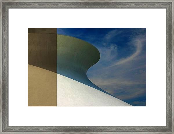 Hourglass Dome Cloud Swirl Framed Print