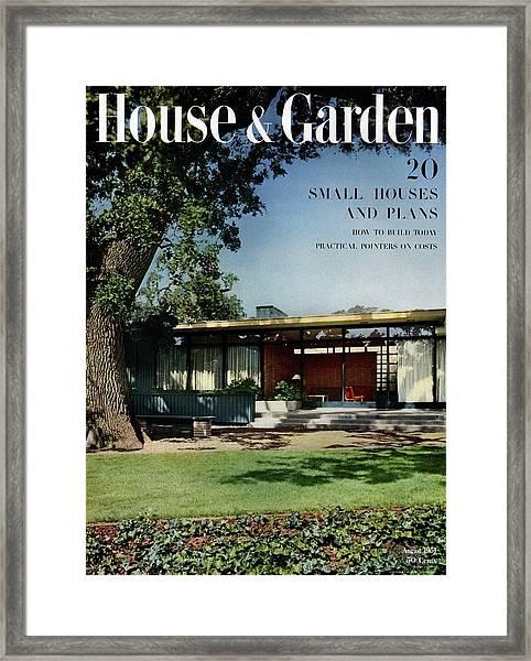 House & Garden Cover Of The Kurt Appert House Framed Print