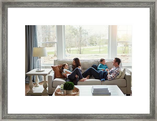 House + Love = Home Framed Print by Gradyreese