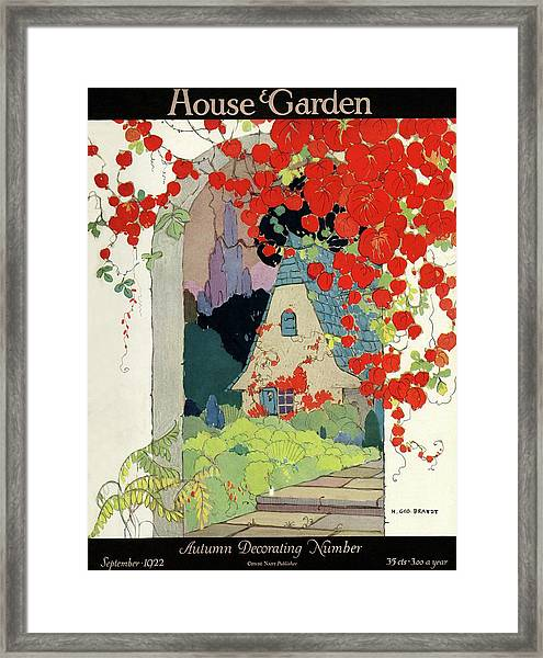 House And Garden Autumn Decorating Number Framed Print