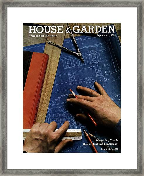 House And Garden Cover Of A Person Framed Print