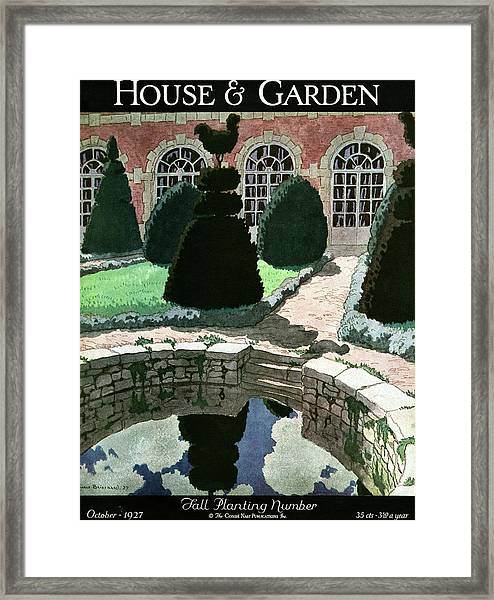 House And Garden Fall Planting Number Cover Framed Print
