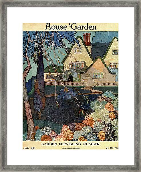 House And Garden Garden Furnishing Number Cover Framed Print