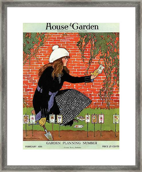 House And Garden Garden Planting Number Cover Framed Print