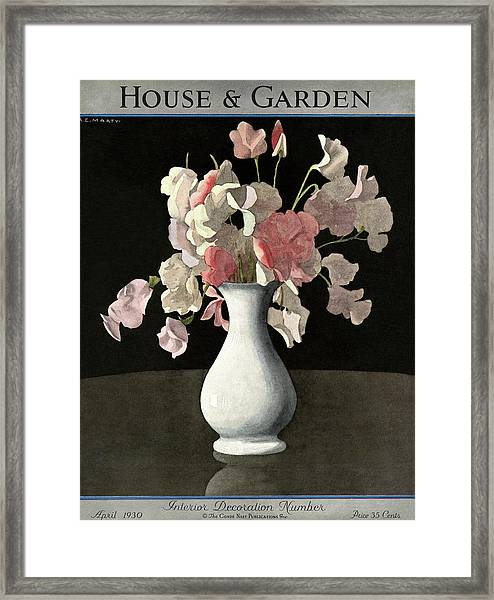 House And Garden Interior Decoration Number Framed Print