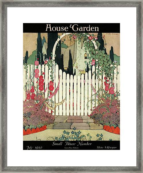 House And Garden Small House Number Framed Print