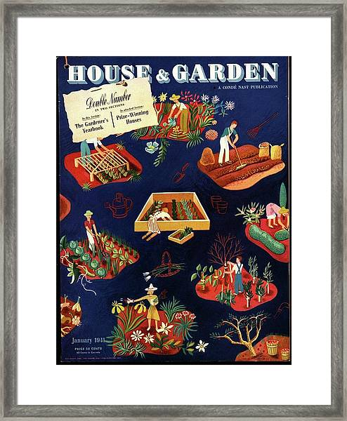 House And Garden The Gardener's Yearbook Cover Framed Print