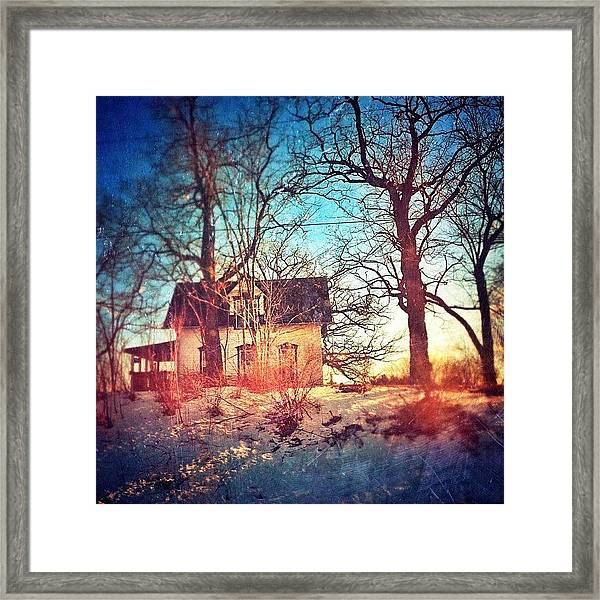 #house #home #old #farm #abandoned Framed Print