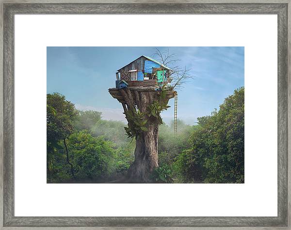 House In The Sky Framed Print