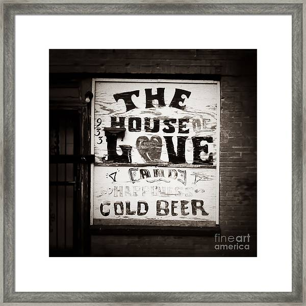 House Of Love Memphis Tennessee Framed Print