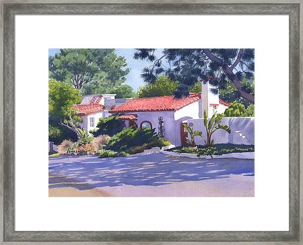 House On Crest Del Mar Framed Print