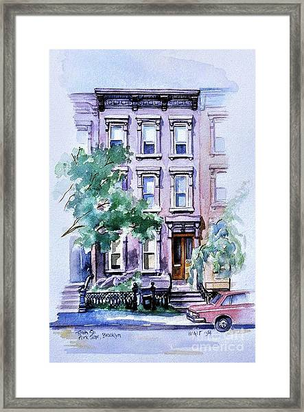 House On Tenth Street Framed Print