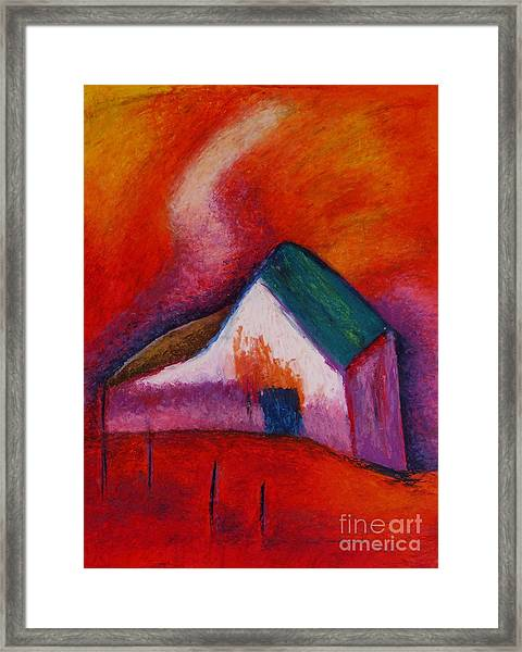 House On The Hillside Framed Print