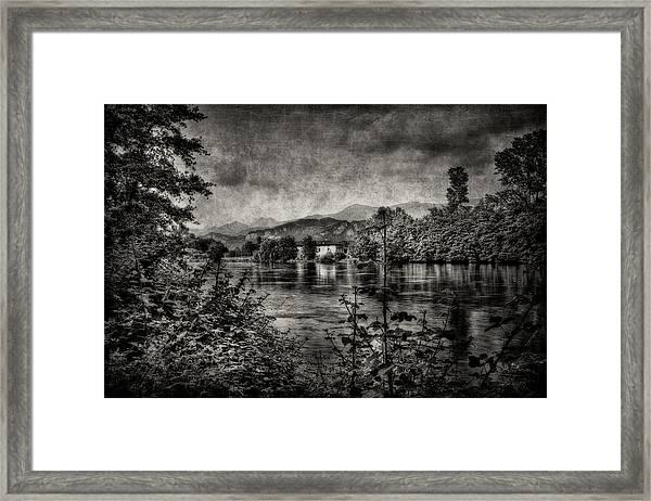 House On The River Framed Print