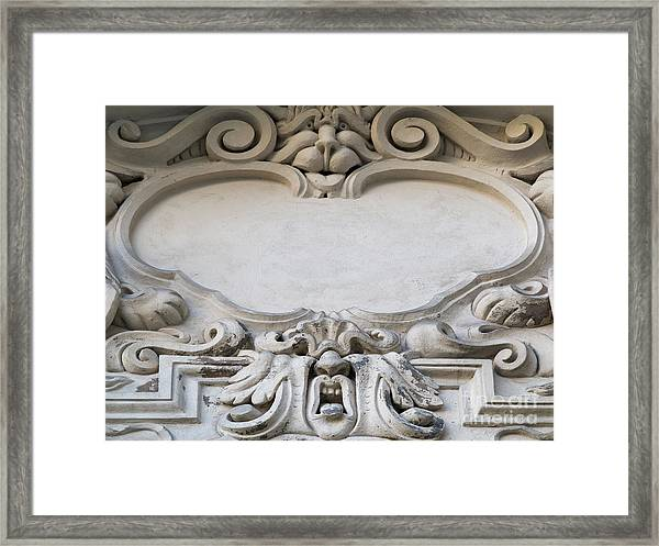 House Sign - Relief Framed Print
