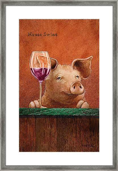 House Swine... Framed Print