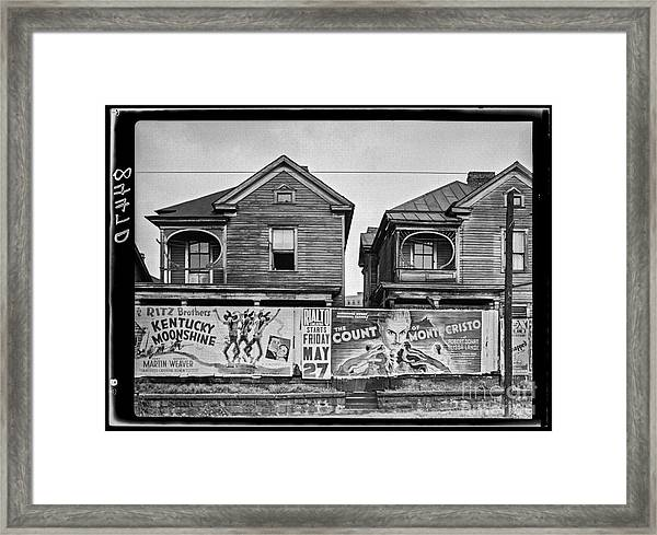 Houses Atlanta Georgia Framed Print