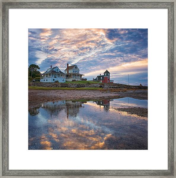 Houses By The Cribstone Framed Print